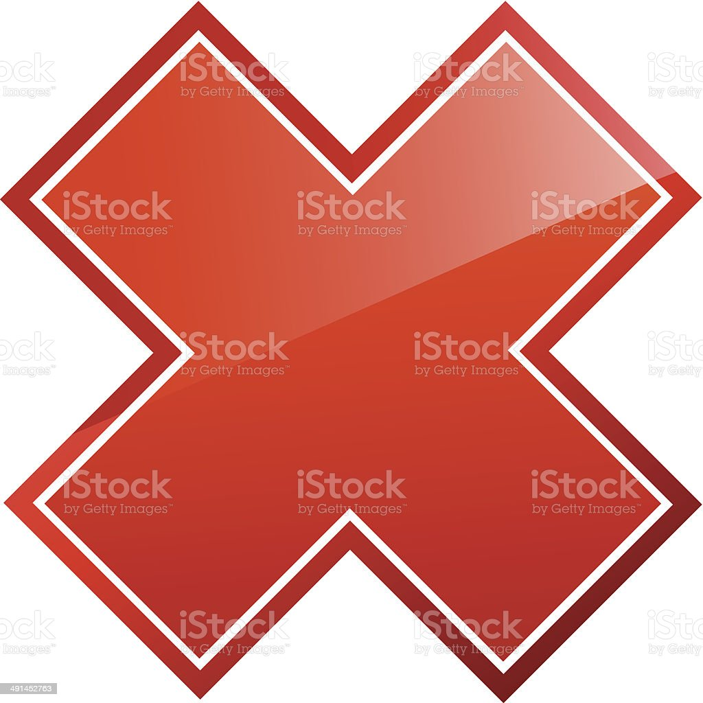 Red cancel sign royalty-free red cancel sign stock vector art & more images of blue
