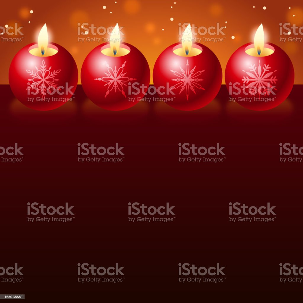 Red Candlelight royalty-free stock vector art