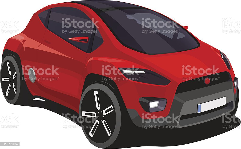 Red car vector art illustration