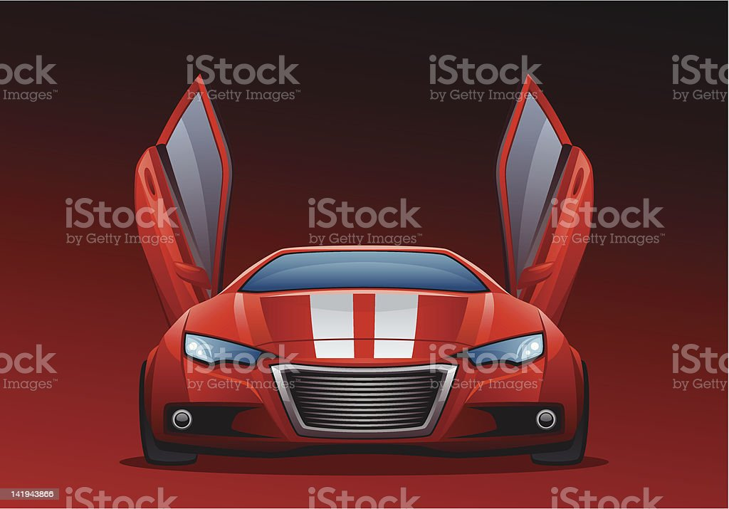 Red car royalty-free stock vector art