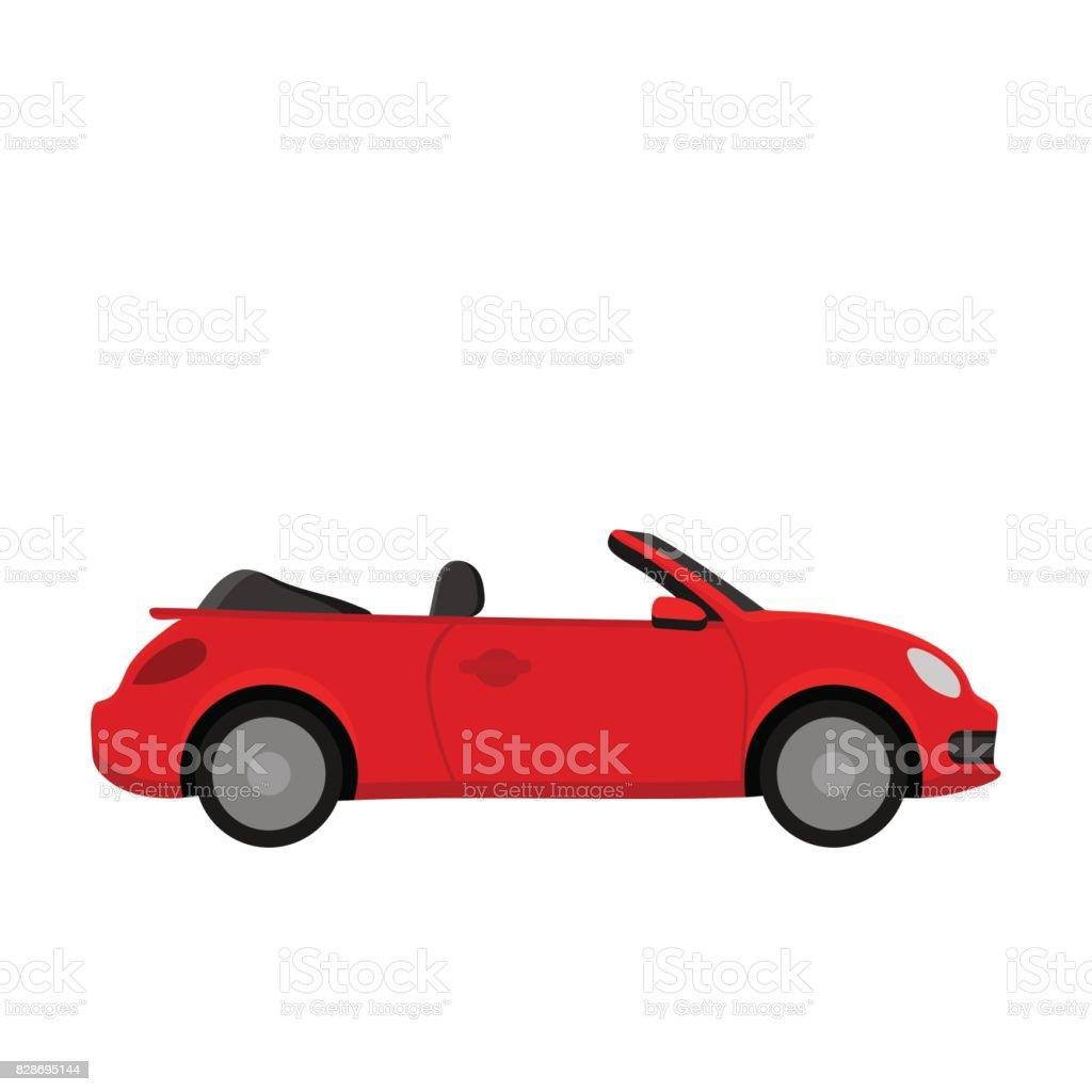 Red car. vector art illustration