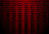 Red carbon fiber background and texture with lighting. Material wallpaper for car tuning or service. Vector illustration