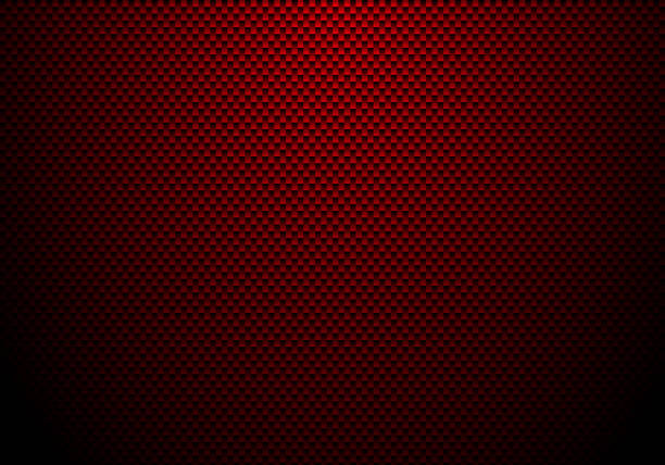 Red carbon fiber background and texture with lighting. Material wallpaper for car tuning or service. Red carbon fiber background and texture with lighting. Material wallpaper for car tuning or service. Vector illustration red cloth stock illustrations