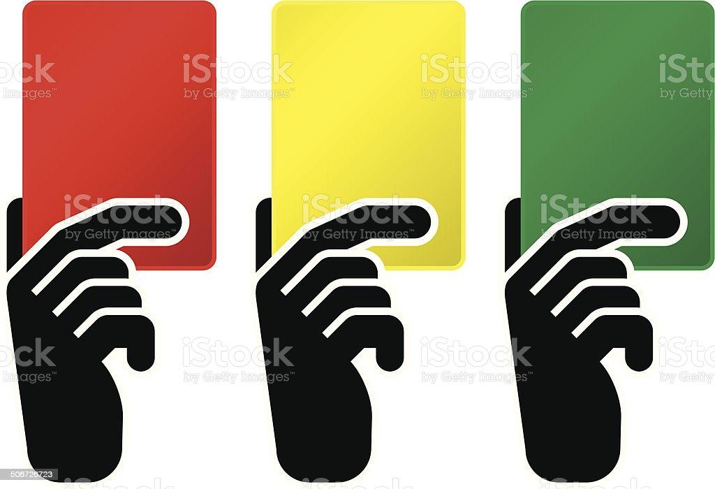 Ilustracion De Tarjeta Roja Tarjeta Amarilla Tarjeta Verde Y Mas