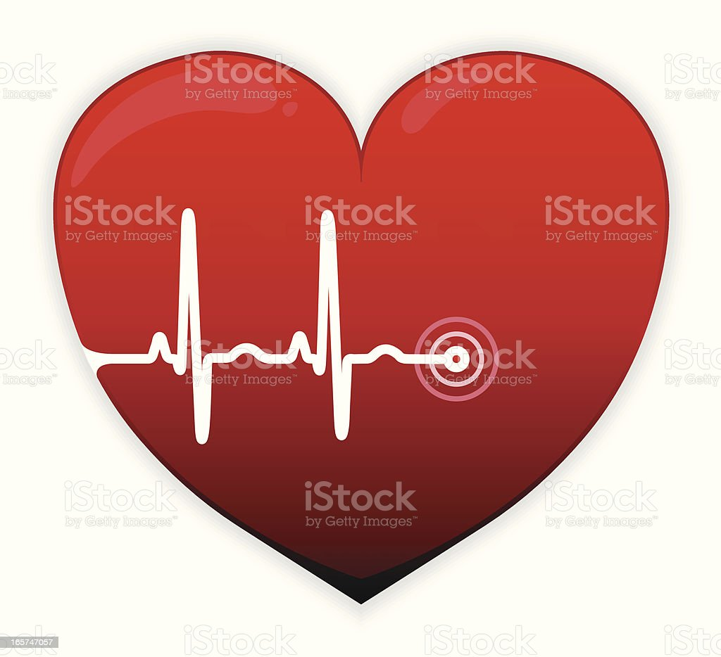 Red cardiogram heart royalty-free red cardiogram heart stock vector art & more images of blood