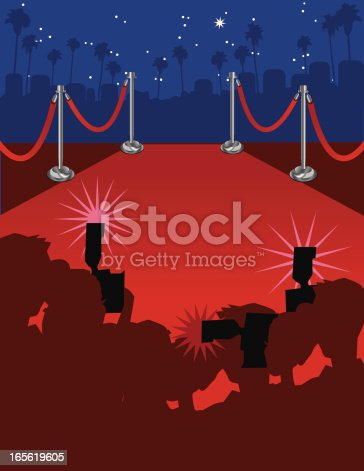 istock Red carpet arrival 165619605