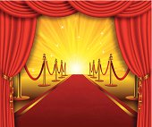 Beautiful Red Carpet Background