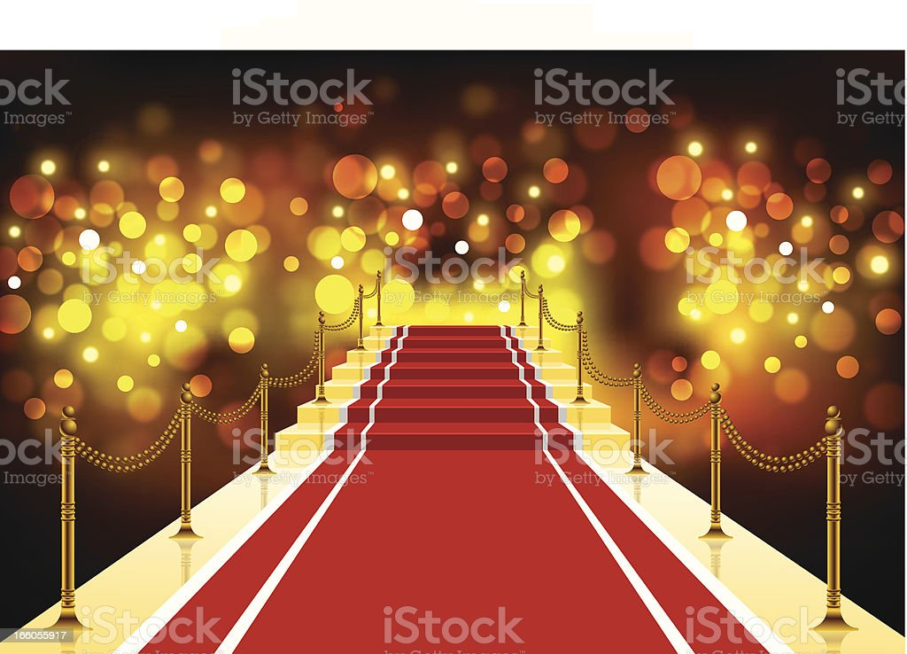 Red Carpet Background vector art illustration