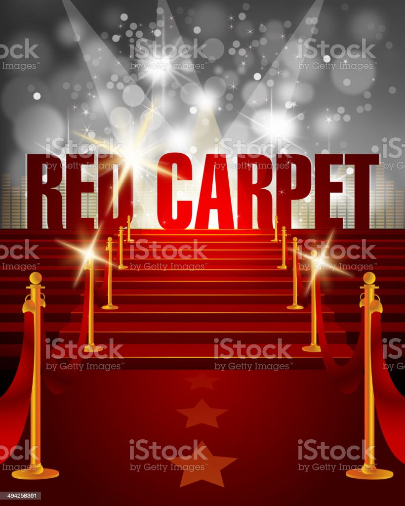 Red Carpet Background with Copy Space royalty-free red carpet background with copy space stock vector art & more images of achievement