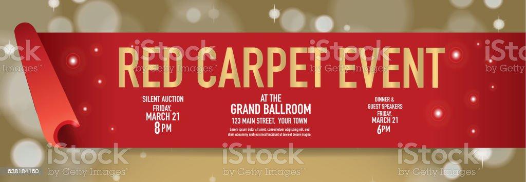 Red Carpet Event Banner Design Template Stock Vector Art & More ...