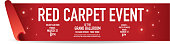 Red Carpet Event banner design template