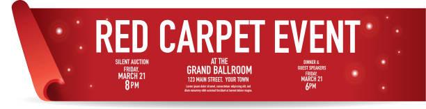 Red Carpet Event banner design template Vector illustration of a Red Carpet Event banner design template. rolling stock illustrations
