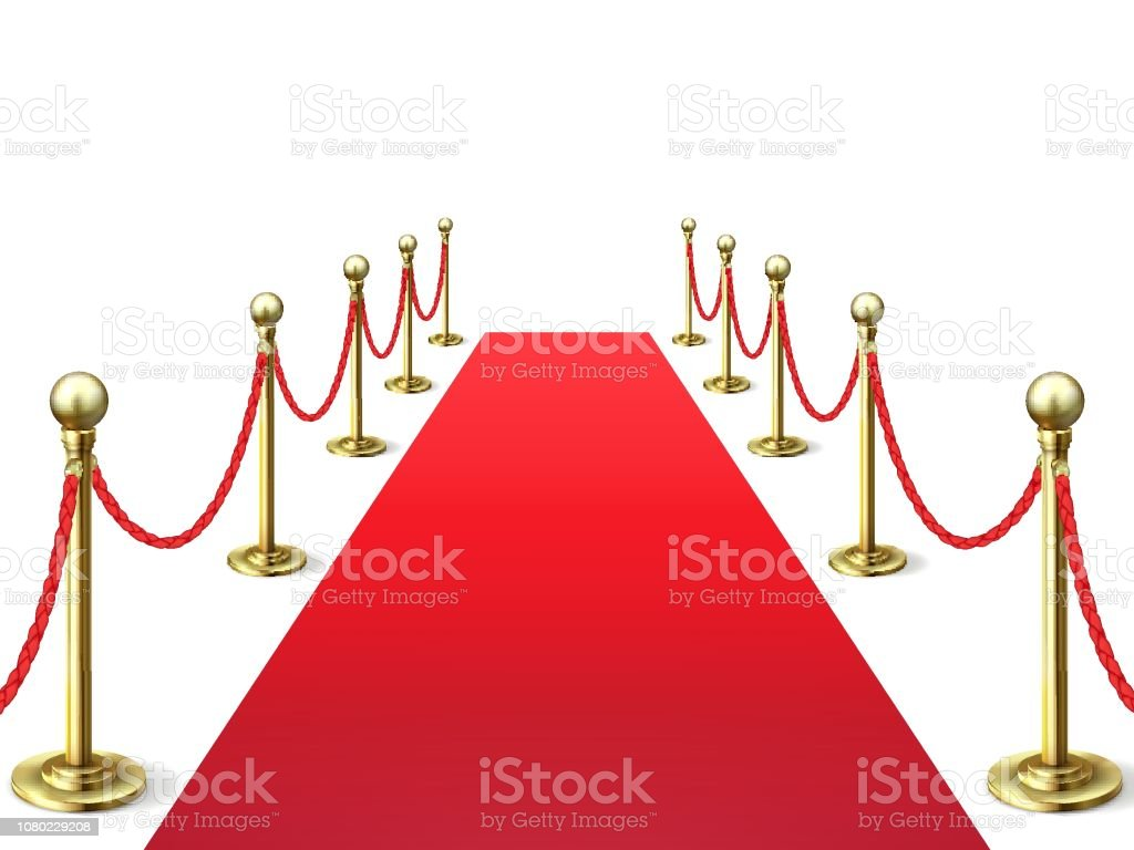 Red Carpet Event Celebrity Carpets With Rope Barrier Vip Interior Hollywood Academy Movie Premiere Vector Stock Illustration Download Image Now Istock
