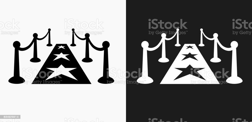 Icono de la alfombra roja en blanco y negro Vector fondos - ilustración de arte vectorial
