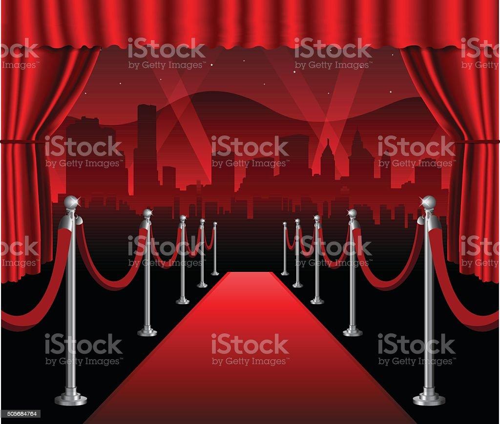 red carpet movie premiere elegant event hollywood background stock
