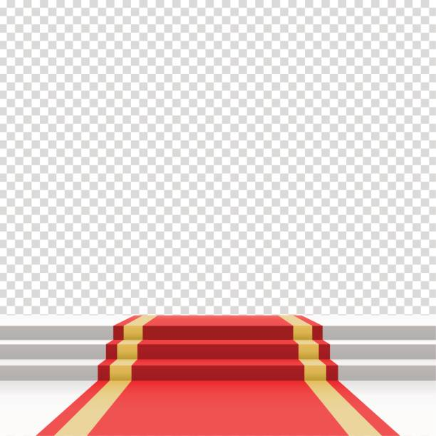 red carpet on stairs - oscars stock illustrations, clip art, cartoons, & icons
