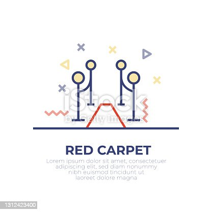 istock Red Carpet Outline Icon 1312423400