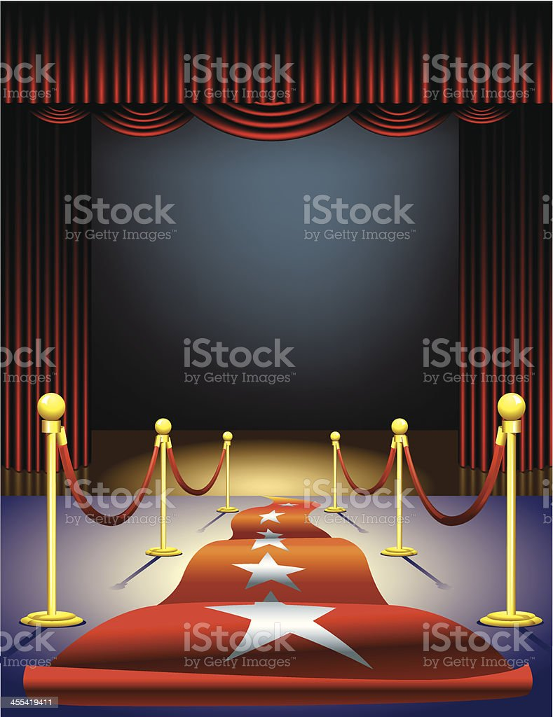 Red Carpet to the Stage royalty-free red carpet to the stage stock vector art & more images of accessibility