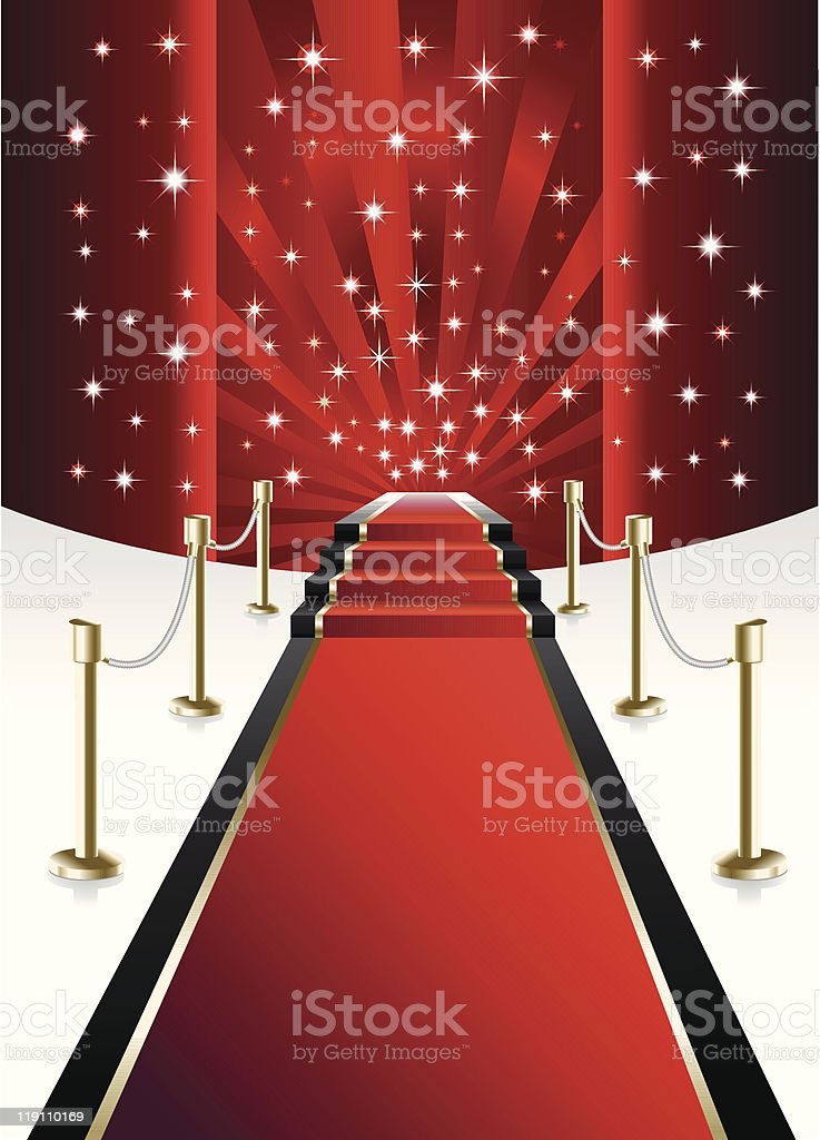 Red Carpet vector art illustration