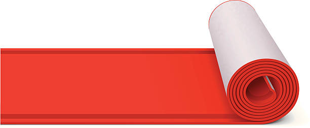 Red Carpet Vector illustration of red carpet.  rolling stock illustrations