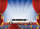 Red Carpet. Vector illustration done using Adobe Illustrator CS3. Vector-Based Illustration. High Resolution JPG and Illustrator 0.8 EPS included.