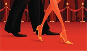"""Walking on the red carpet.  To see other vector pictures in my """"People"""" gallery click on the image below:  [url=http://www.istockphoto.com/file_search.php?action=file&lightboxID=3494436][img]http://istockphoto.mexanix.com/img/lbox/people/people.png[/img][/url]"""