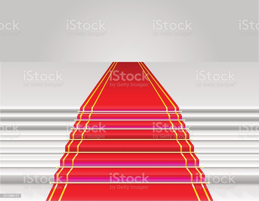 red carpet vector illustration vector art illustration