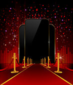 Red Carpet with Elegant Background