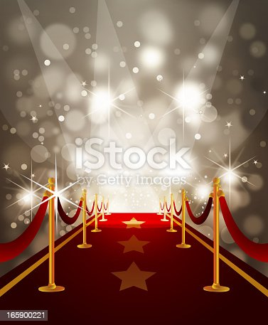 Red Carpet With Paparazzi Flashes Stock Vector Art & More ...