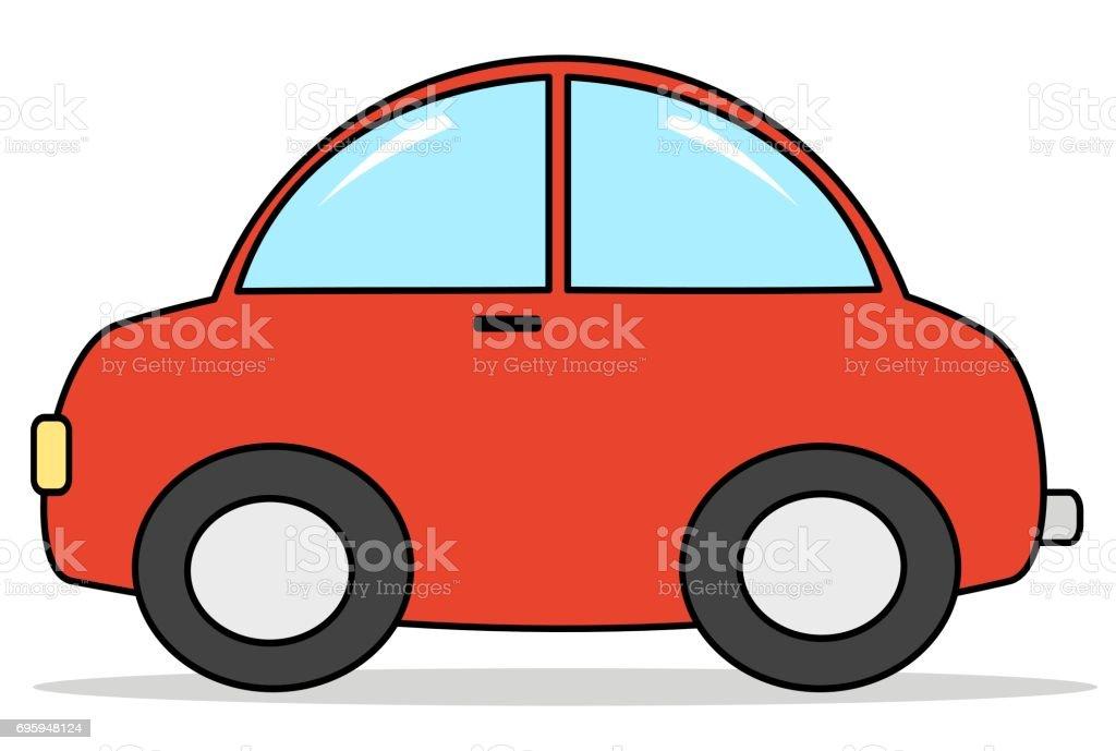 Vetores De Ilustracao Em Vetor Carro Vermelho Dos Desenhos