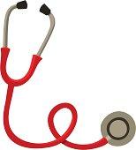 Red Cartoon Stethoscope