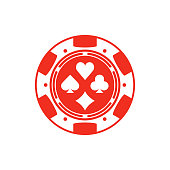 Red casino chip.
