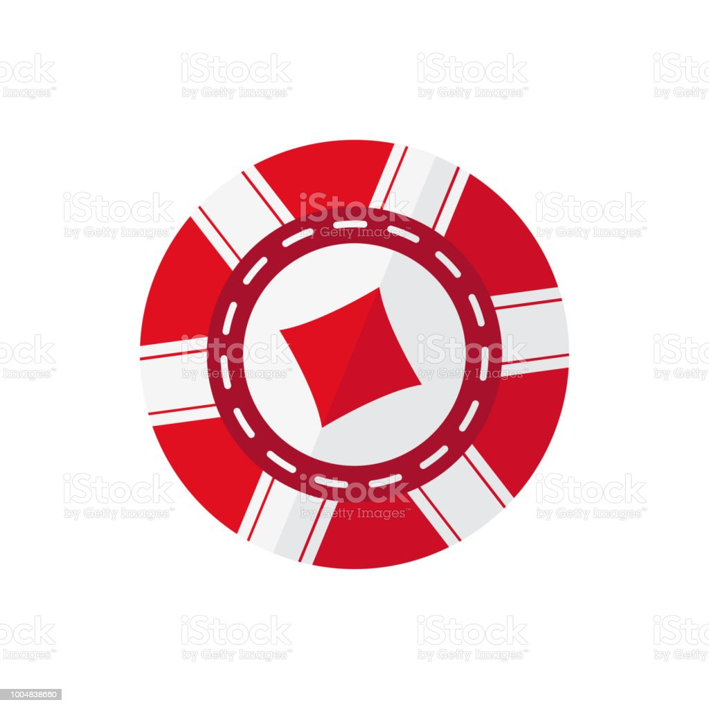 Red Casino Token With Diamonds Symbol Vector Illustration On The White Background Stock Illustration Download Image Now Istock