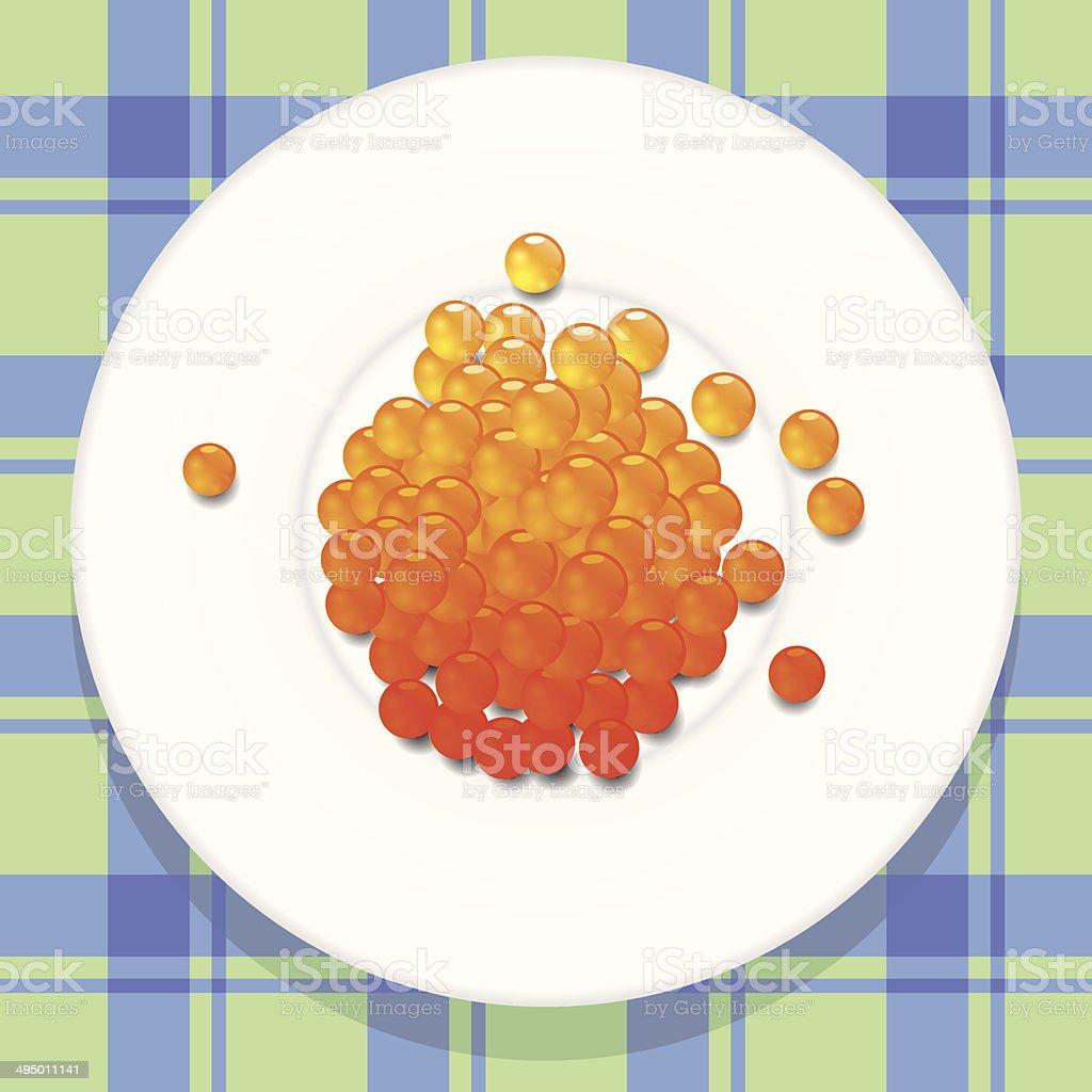 red caviar royalty-free stock vector art