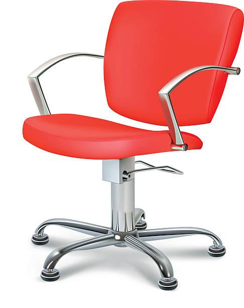 赤い椅子 - 美容室 3d点のイラスト素材/クリップアート素材/マンガ素材/アイコン素材