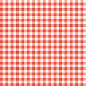 istock Red checkered tablecloths patterns. 637380842