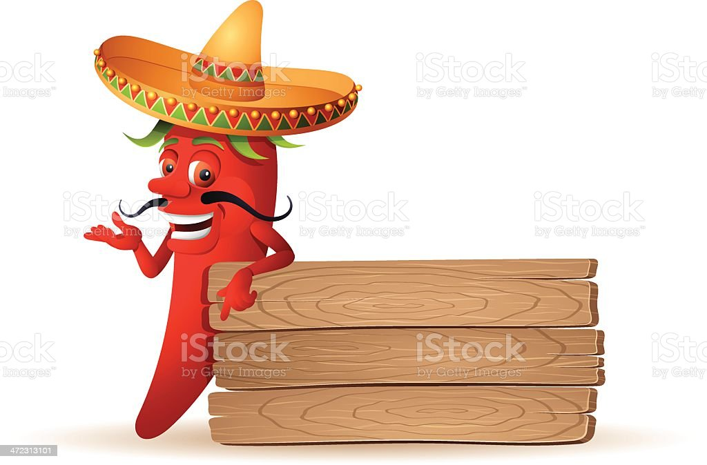 Red Chili Pepper royalty-free stock vector art