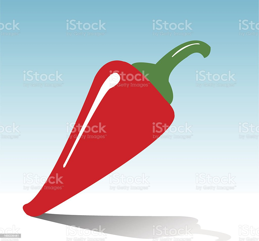 Red Chili royalty-free stock vector art