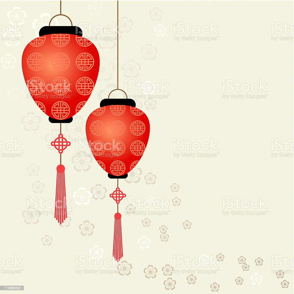 Red Chinese Lantern royalty-free stock vector art