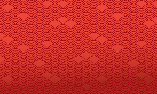 Red chinese pattern, oriental background. Vector