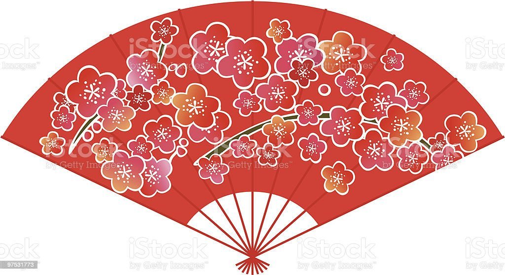 Red Chinese/Japanese Fan royalty-free red chinesejapanese fan stock vector art & more images of celebration