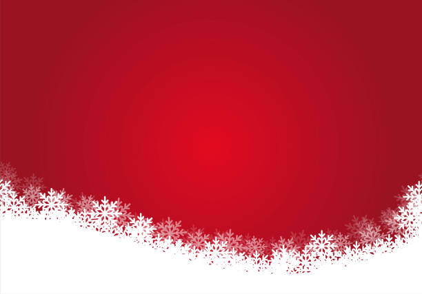 Red christmas background, illustration. Red gradient color background with white snowflakes, illustration - vector EPS 10. christmas backgrounds stock illustrations