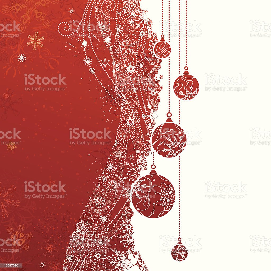 Red Christmas background royalty-free stock vector art
