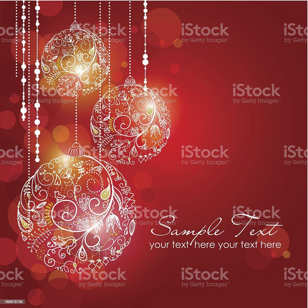 Red Christmas Background vector art illustration