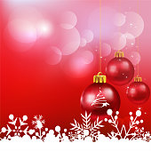 Red Christmas Background, vector art