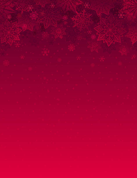 Red christmas background with snowflakes and stars, vector illustration Red christmas background with snowflakes and stars, vector illustration christmas backgrounds stock illustrations