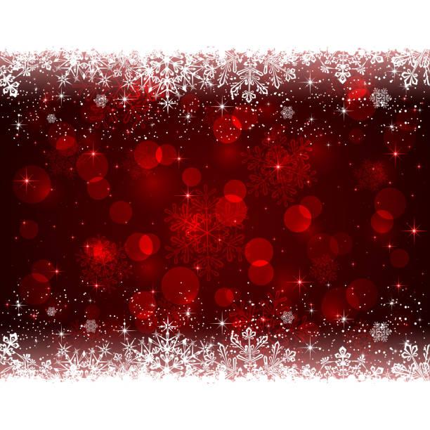 赤のクリスマスの背景に雪の結晶 - ホリデーシーズンと季節のフレーム点のイラスト素材/クリップアート素材/マンガ素材/アイコン素材