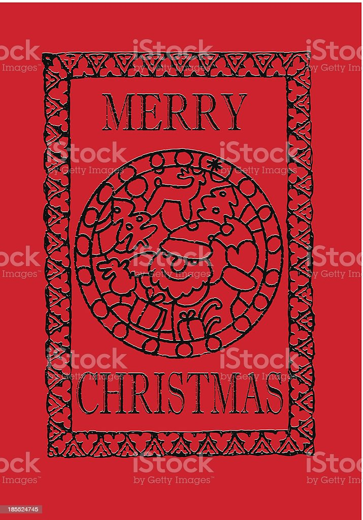 Red Christmas greeting card royalty-free stock vector art