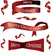Red Christmas Ribbons Set