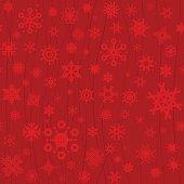 Red Christmas seamless snowflakes